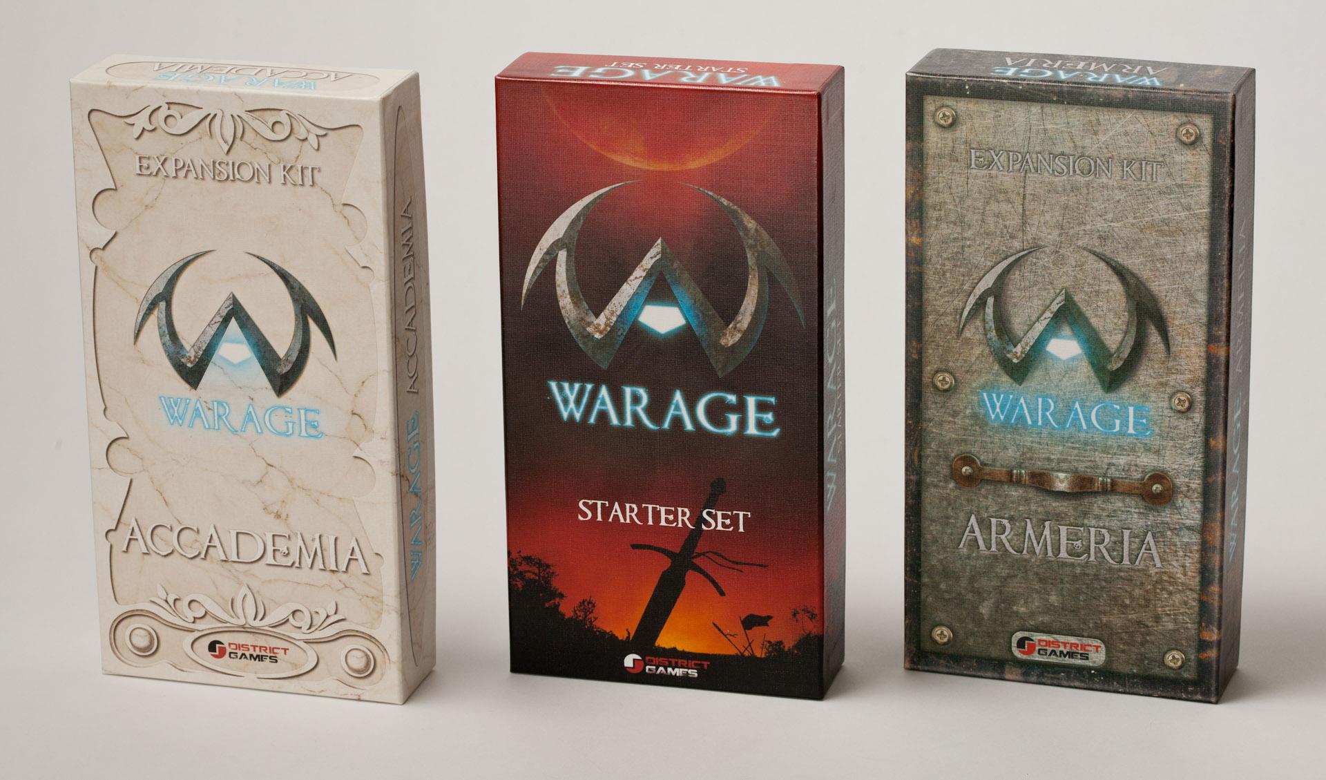 Warage Card Game, Packaging © District Games