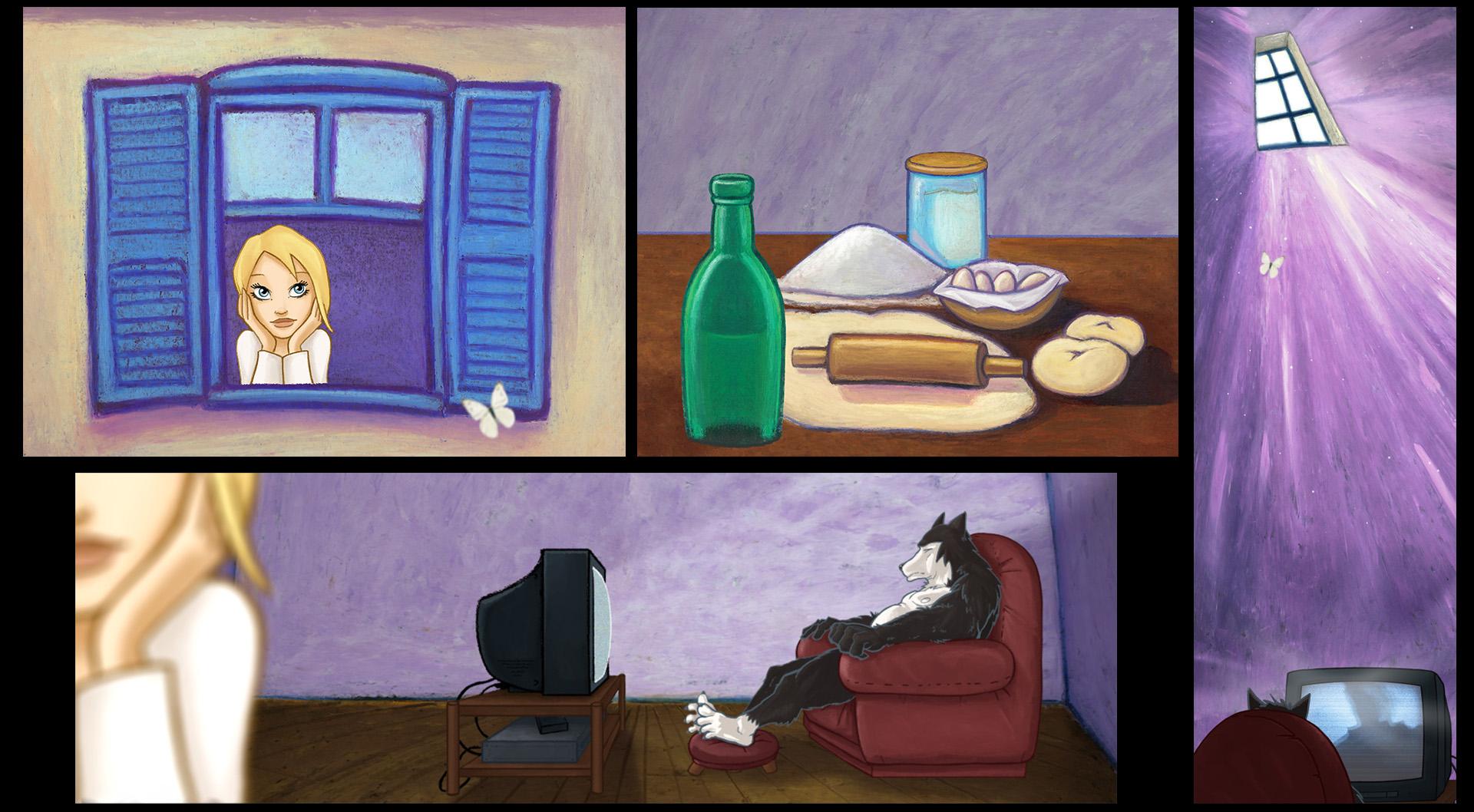 I Conflitti dell'Essere - Videoclip, scenes from the animation © Super Punch / Avvolte