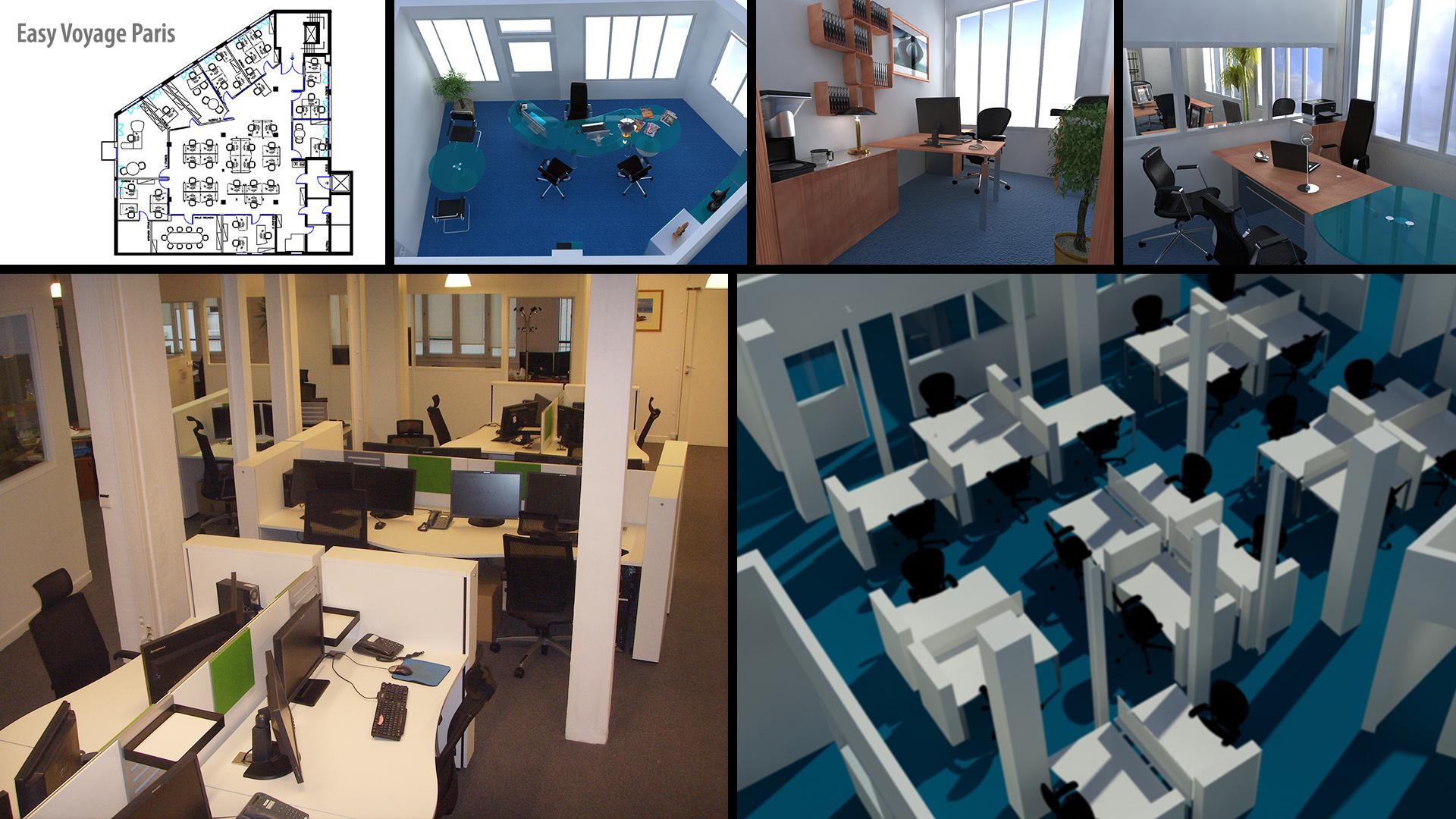Interior Design, offices Easy Voyage, Paris