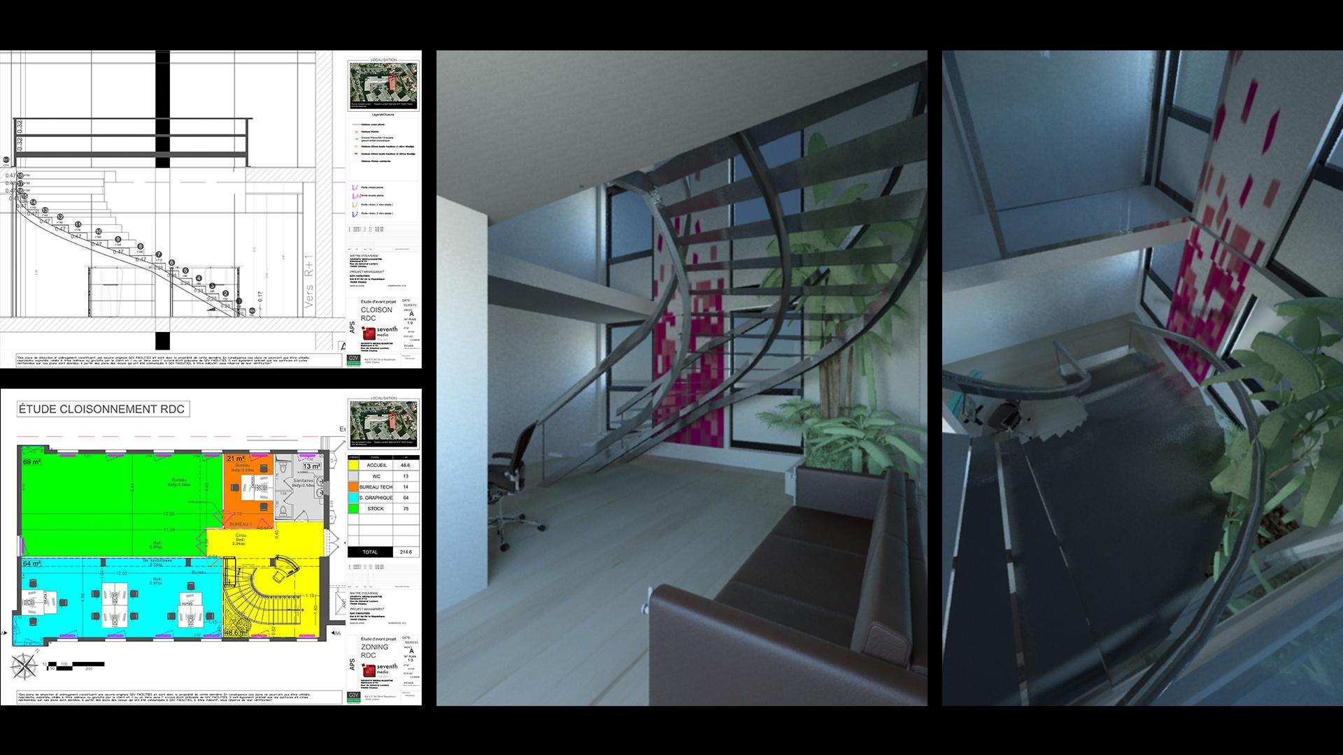 Stairway, Seventh Media, Paris