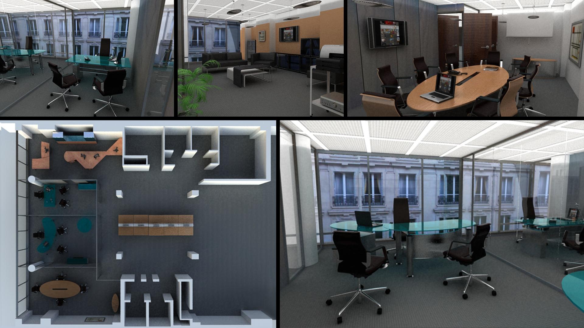 Interior Design, offices G2V, Parigi
