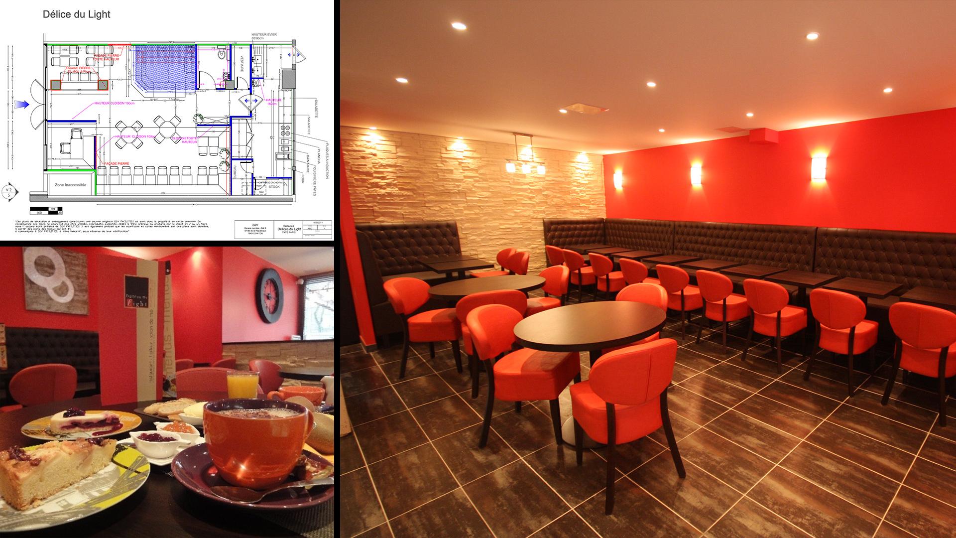 Interior Design, Restaurant Delices du Light, Parigi