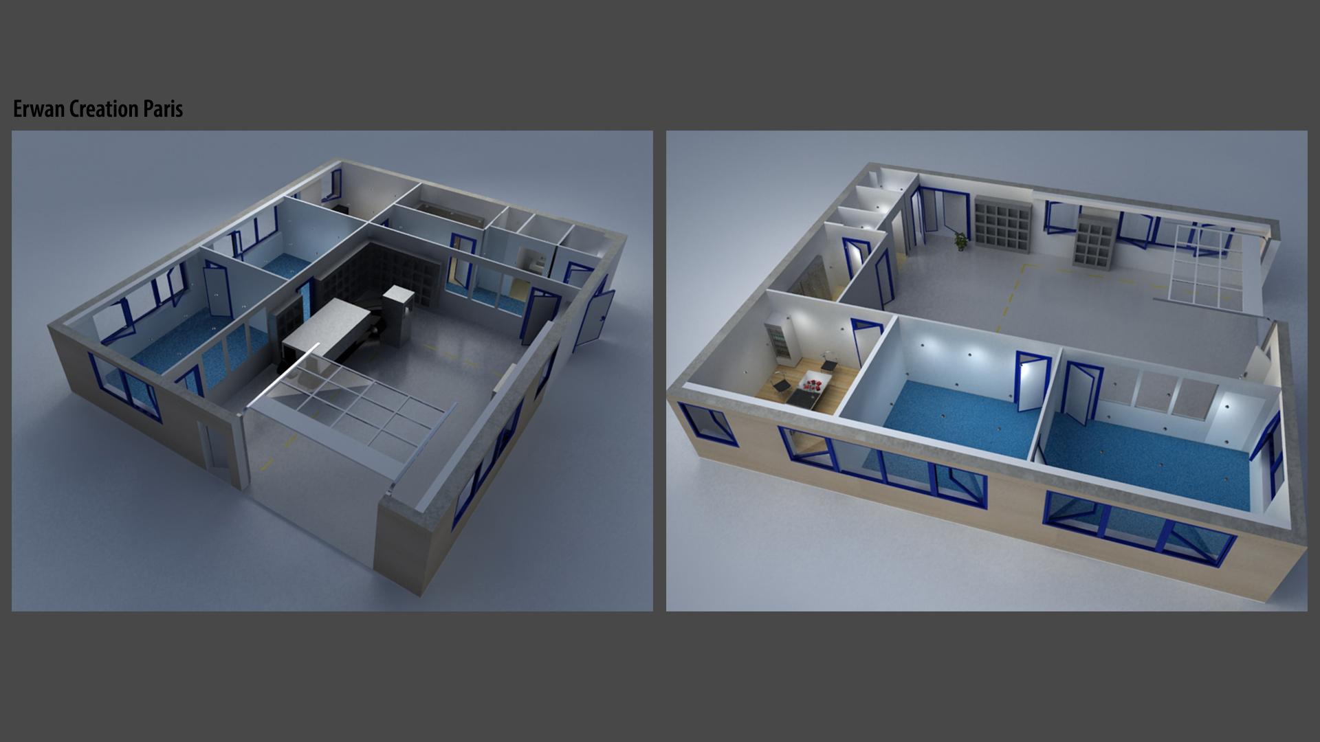 Interior Design, spaces Office Supply Stores Industry, Erwan Creation, Parigi